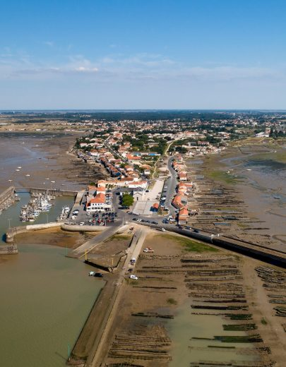 Aerial view of the Chapus point in Charente Maritime
